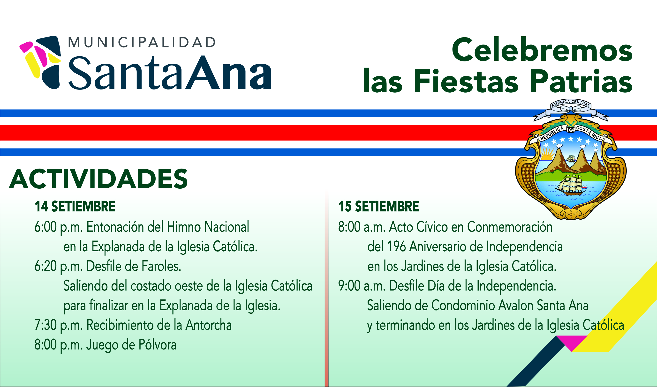 Activities Celebrating The Independence Of Costa Rica In
